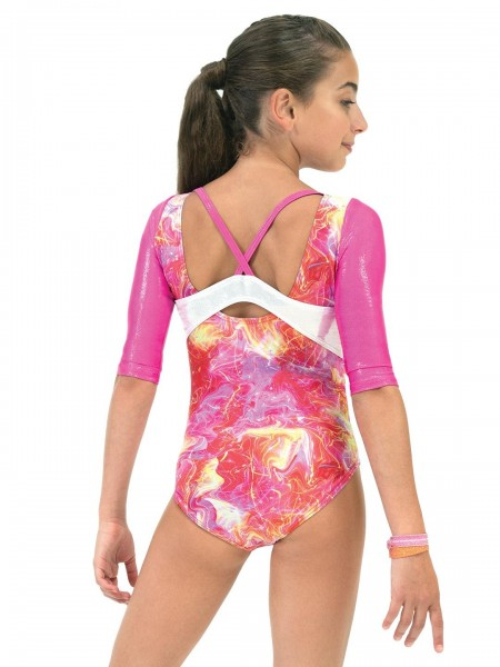 Girls 3/4 Sleeve Leotard