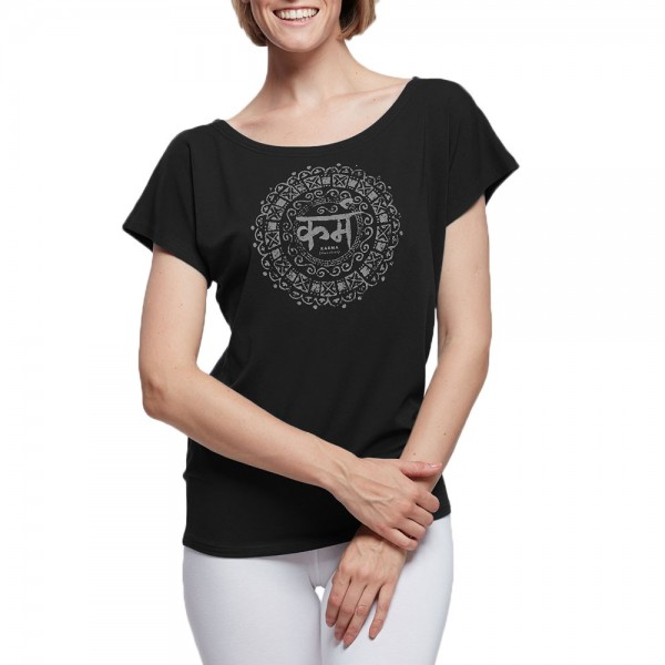 Ladies yoga shirt AVA SANSKRIT