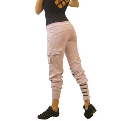 Cotton ankle cuff slim fit pant ASH MAUVE