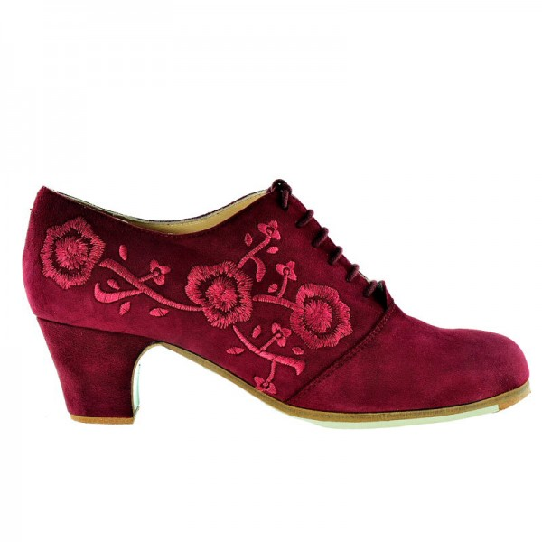 Flamenco Shoe INGLES BORDADO Ante