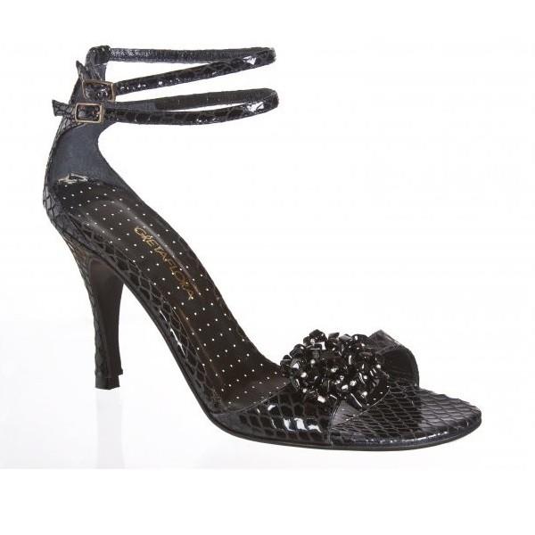 Tango shoe EVITA REPTILE NEGRA