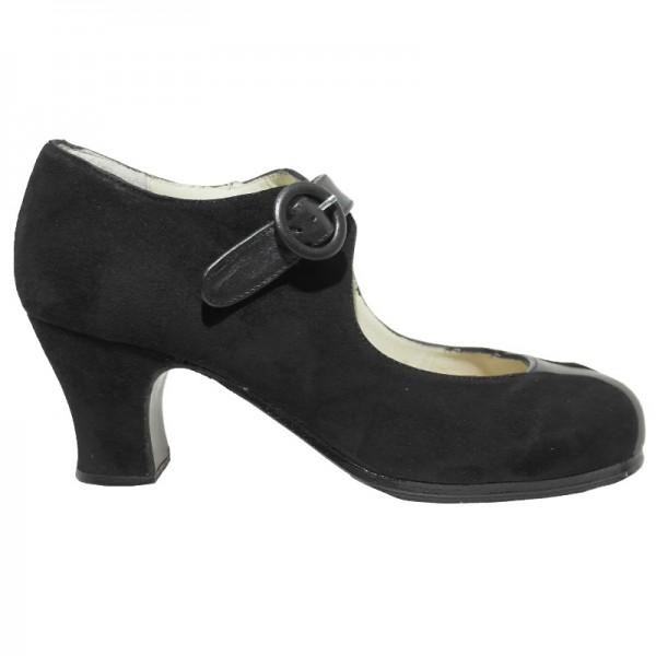 Flamenco Shoe MARIA JUNCAL Ante Negro