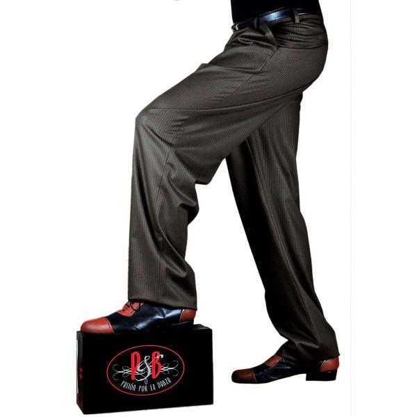 Tango Trousers COPES Pinstripe Brwon